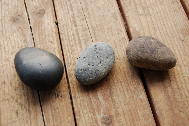 Rocks that are attractable to a magnet