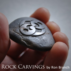 Rock carvings by Ron Branch inspired by the Roswell Rock mystery