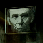 Lincoln etched