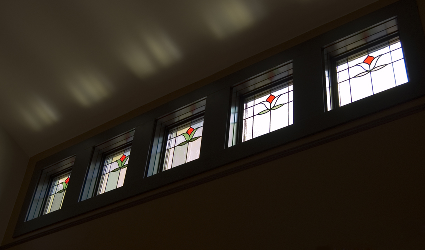 Stained Glass Windows at The Farm Cafe in Portland Oregon